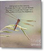 Serenity Courage And Wisdom Metal Print