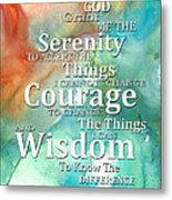 Serenity Prayer 1 - By Sharon Cummings Metal Print