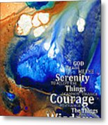 Serenity Prayer 4 - By Sharon Cummings Metal Print