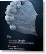 Serenity Prayer Finding Peace Metal Print