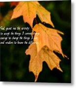 Serenity Prayer Metal Print