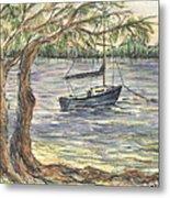 Serenity Sailboat Metal Print