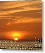 Serenity Sunset Metal Print