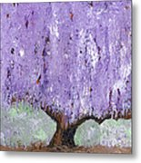 Serenity Willow Metal Print by Laura Charlesworth