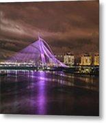 Seri Wawasan Bridge At Night Metal Print