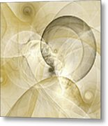 Series Abstract Art In Earth Tones 3 Metal Print