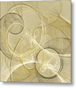 Series Abstract Art In Earth Tones 4 Metal Print