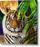 Second In The Big Cat Series - Tiger Metal Print