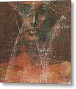 Serious Bride Mirage  Metal Print