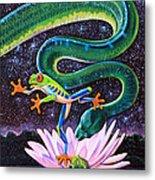 Serpent In The Garden Metal Print