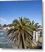Sestri Levante And Palm Tree Metal Print
