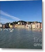 Sestri Levante With Blue Sky Metal Print