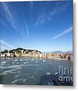 Sestri Levante With Clouds Metal Print