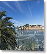 Sestri Levante With Palm Tree Metal Print