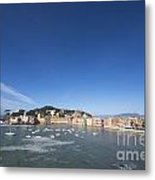 Sestri Levante With The Sea And Blue Sky Metal Print