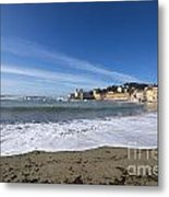 Sestri Levante With Waves Metal Print