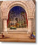 Set Design For Hamlet By William Metal Print