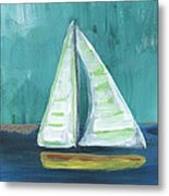 Set Free- Sailboat Painting Metal Print