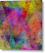 Set Sails On The Open Sea Abstract Metal Print