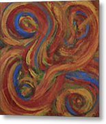 Set To Music - Original Abstract Painting Painting - Affordable Art Metal Print