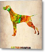 Setter Pointer Poster Metal Print