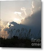 Setting Rays At Sand Dunes Metal Print