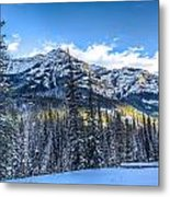 Setting Sun In The Ne Yellowstone Metal Print