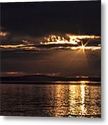 Setting Sun On Whidbey Island Metal Print by Jeff Swanson