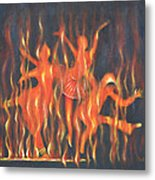 Setting The Stage On Fire Metal Print