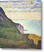 Seurat's Seascape At Port Bessin In Normandy Metal Print