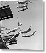 Seven Champion Diving In La Metal Print