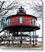 Seven Foot Knoll Lighthouse - Baltimore Metal Print