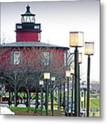 Seven Foot Knoll Lighthouse Metal Print