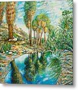 Seven Palms Oasis Metal Print