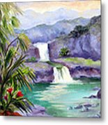 Seven Sacred Pools Metal Print