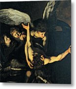 Seven Works Of Mercy Metal Print by Caravaggio