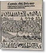 Sevilla In 1548. Xylography. Spain Metal Print