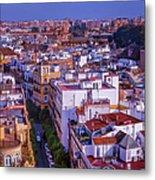 Seville Cityscape Metal Print