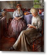 Sewing - I Can Watch Her Sew For Hours Metal Print
