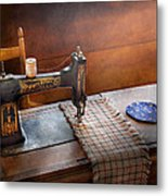 Sewing - It's Just Black And White  Metal Print by Mike Savad