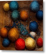 Sewing - Knitting - Yarn For Cats Metal Print by Mike Savad