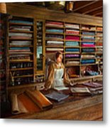 Sewing - Minding The Mending Store Metal Print by Mike Savad