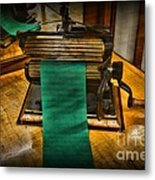 Sewing - The Victorian Seamstress  Metal Print by Paul Ward