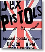 Sex Pistols First Us Appearance Metal Print