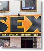 Sex Shop Sign Hamburg Metal Print by Jannis Werner