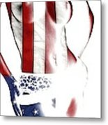 Sexy Stars And Stripes Metal Print