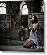 Sexy Woman In Church 2 Metal Print