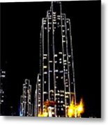 Sf Night Light Up Metal Print