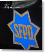 Sfpd Emblem Metal Print by T C Brown