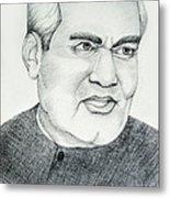 Atal Bihari Vajpayee Metal Print